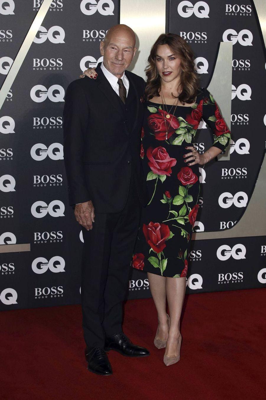 "Sir Patrick Stewart et sa femme, Sunny Ozell,à la soirée ""GQ Men Of The Year"""