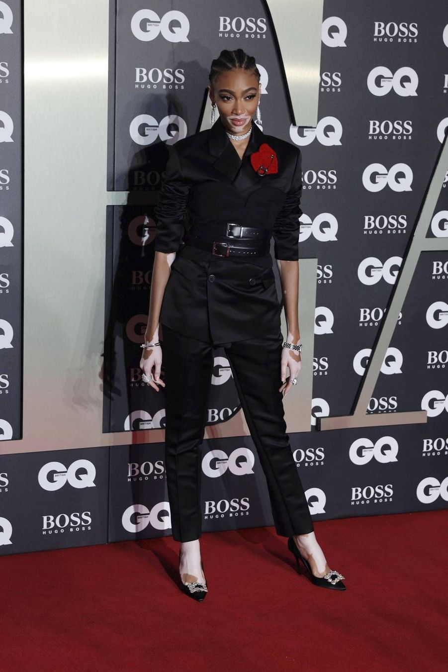 "Winnie Harlow à la soirée ""GQ Men Of The Year"""