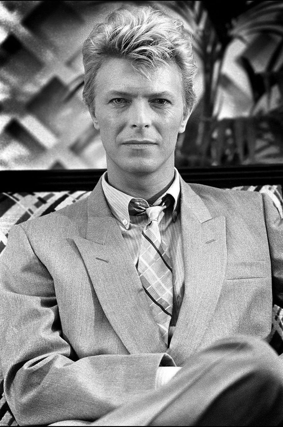 """David Bowie en plein succès avec """"Let's Dance""""."""