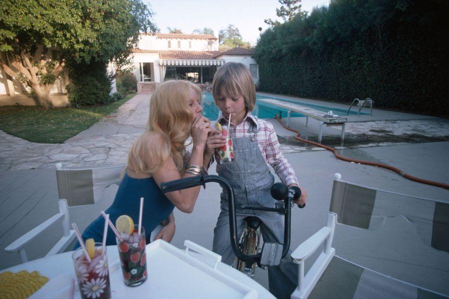 David Hallyday avec Sylvie Vartan en 1970