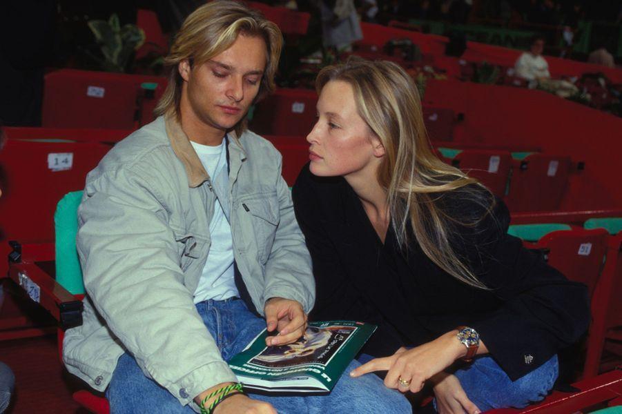 David Hallyday et Estelle Lefébure en 1990