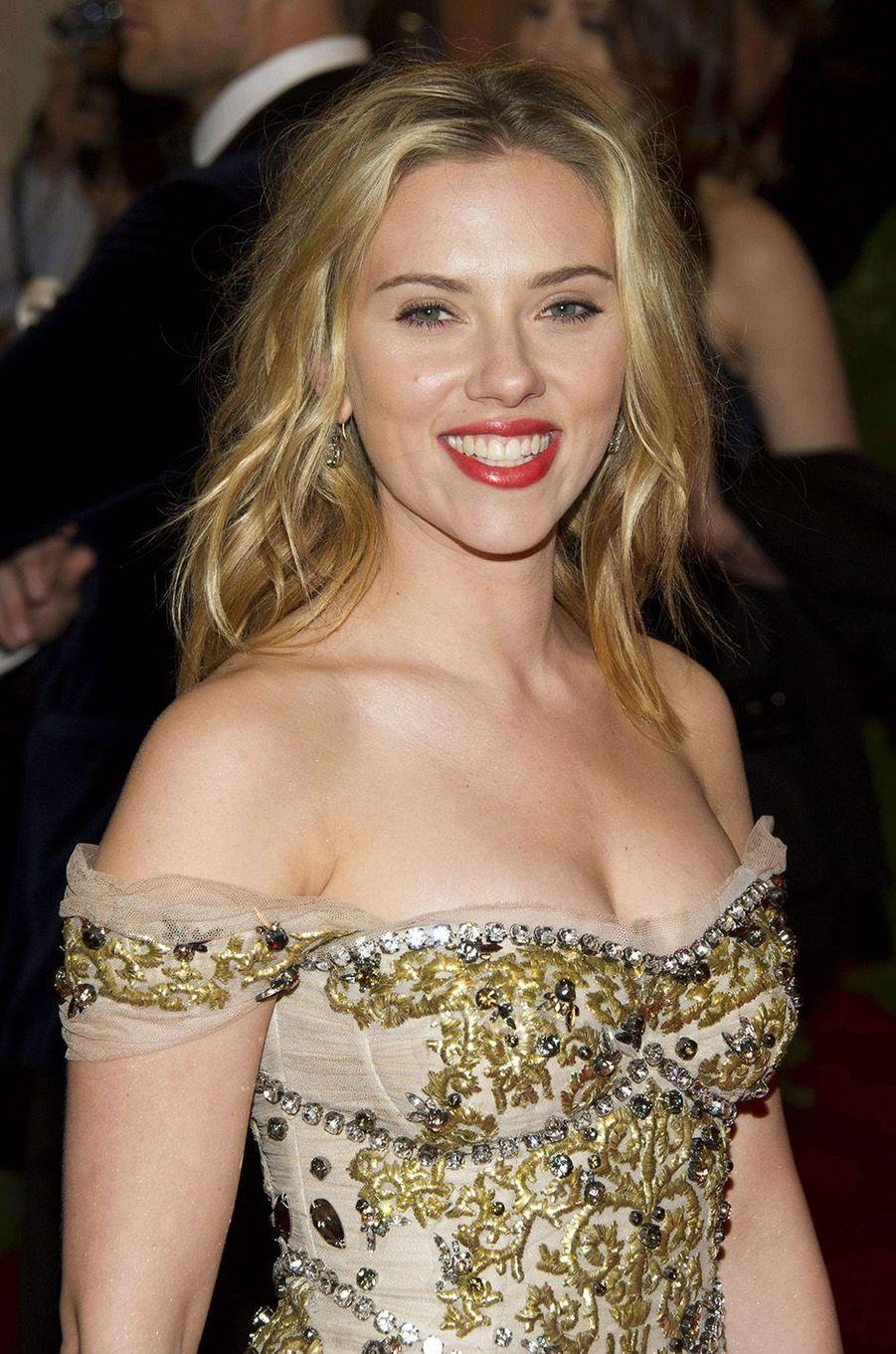 Scarlett Johansson au Met Gala 2012.