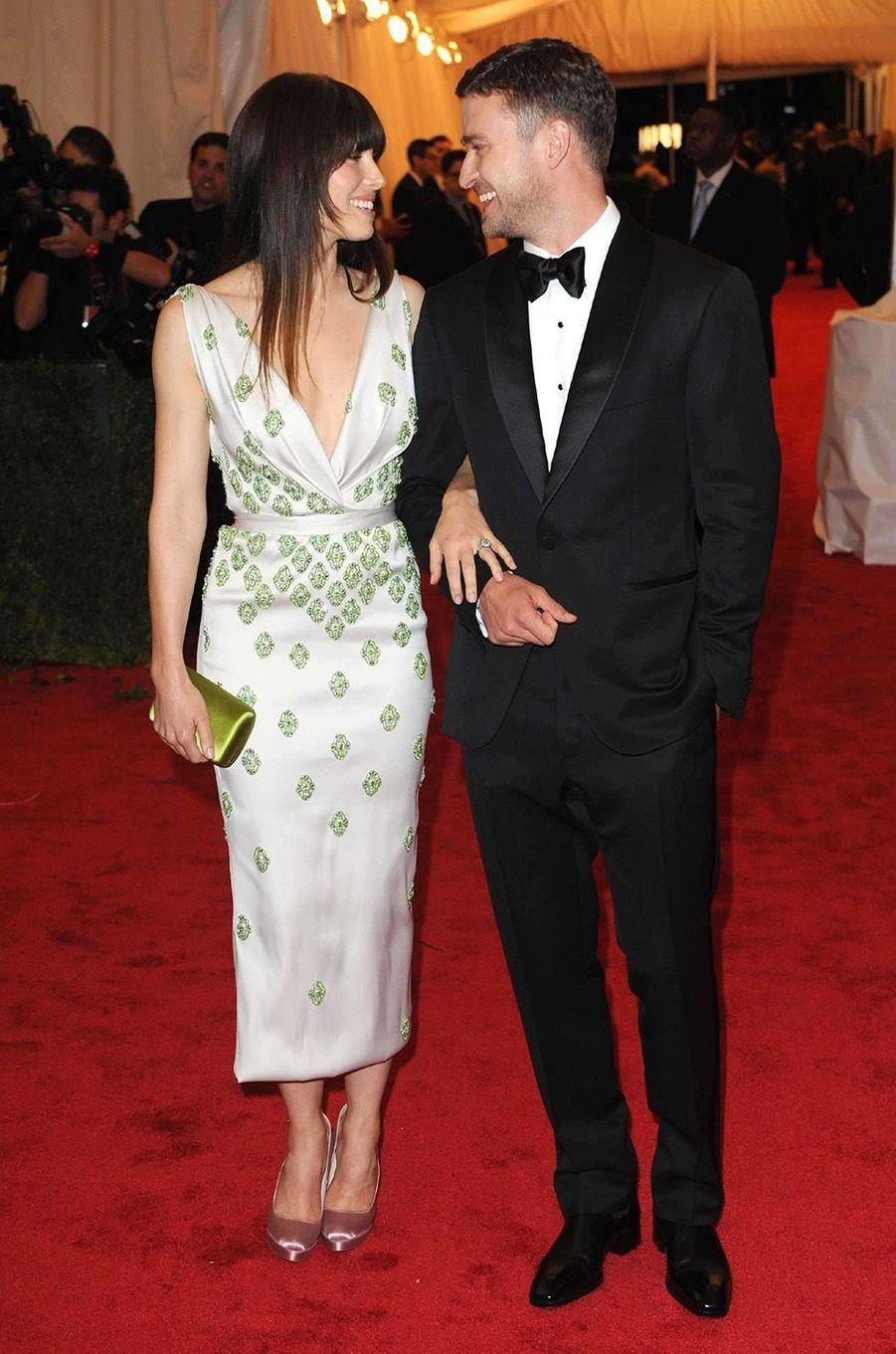 Justin Timberlake et Jessica Bielau Met Gala 2011.