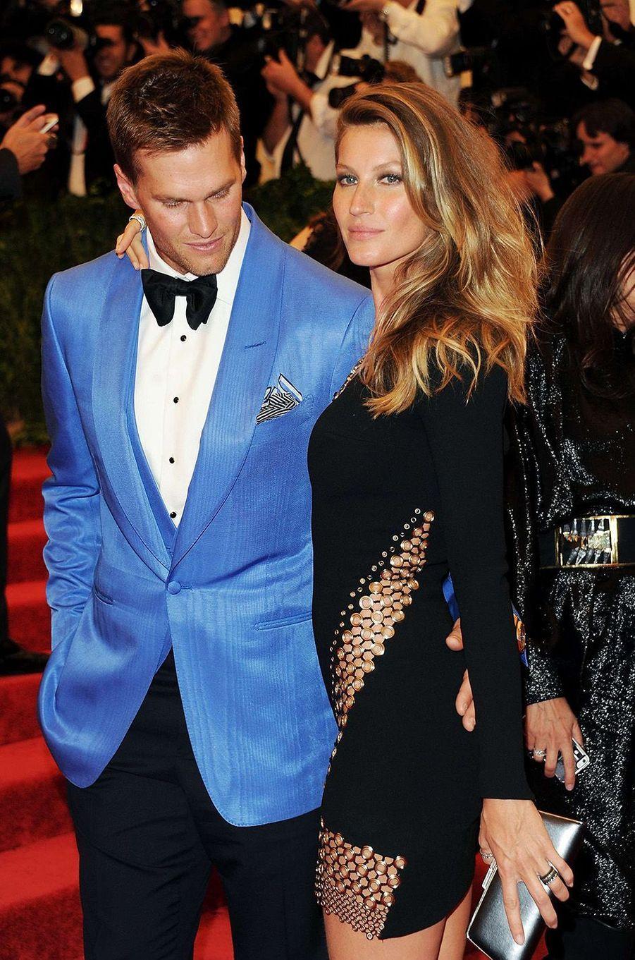Tom Hardy et Gisele Bundchen au Met Gala 2013.