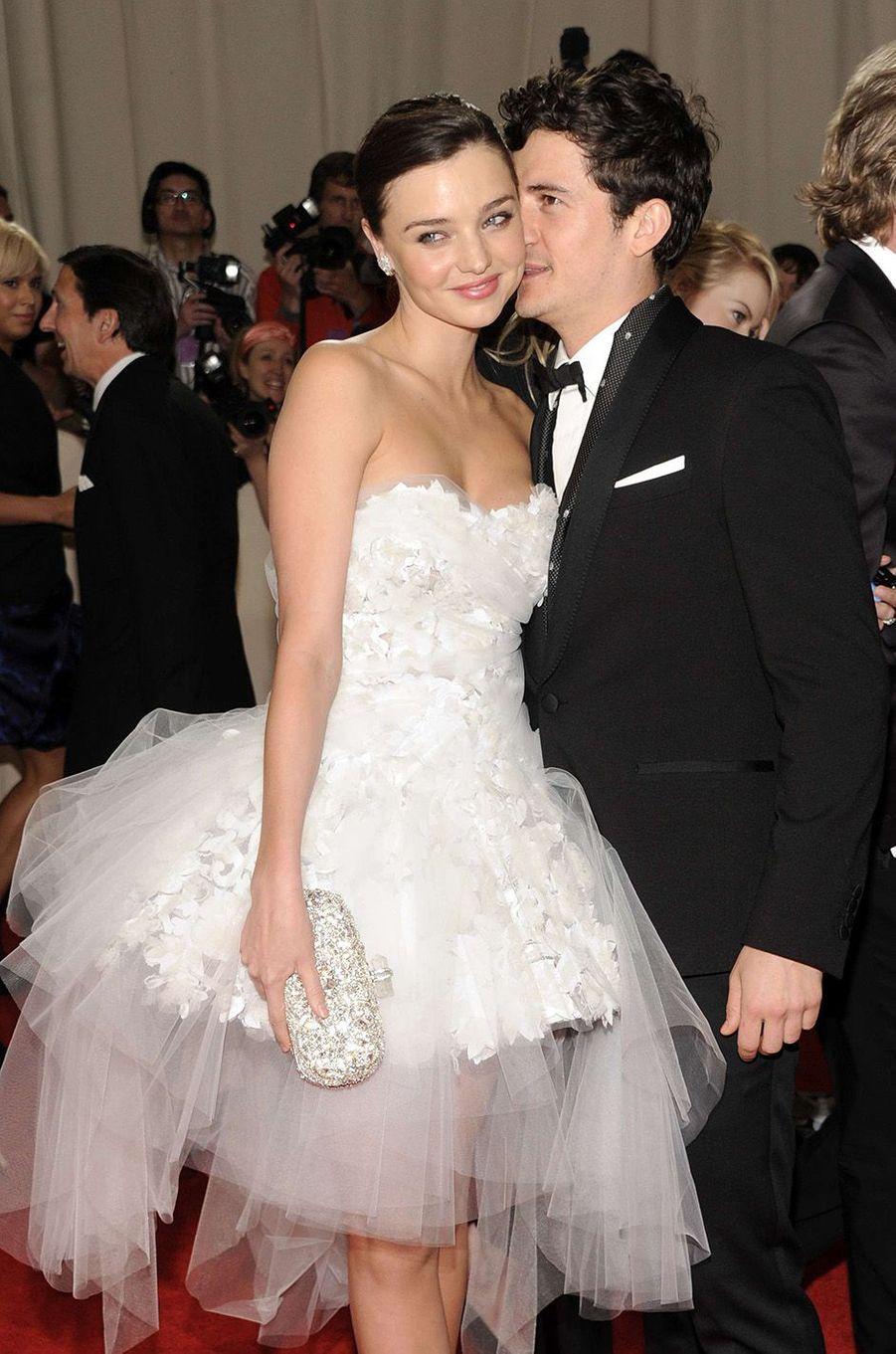 Orlando Bloom et Miranda Kerrau Met Gala 2011.