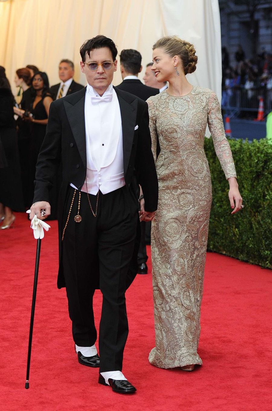 Johnny Depp et Amber Heardau Met Gala 2014.