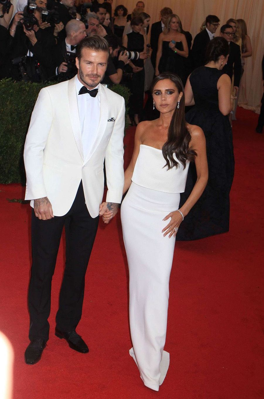 Victoria et David Beckhamau Met Gala 2014.