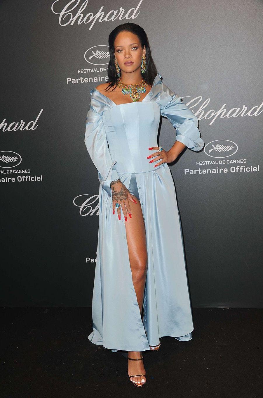Rihanna à la soirée Chopard, à Cannes, le 19 mai 2017.