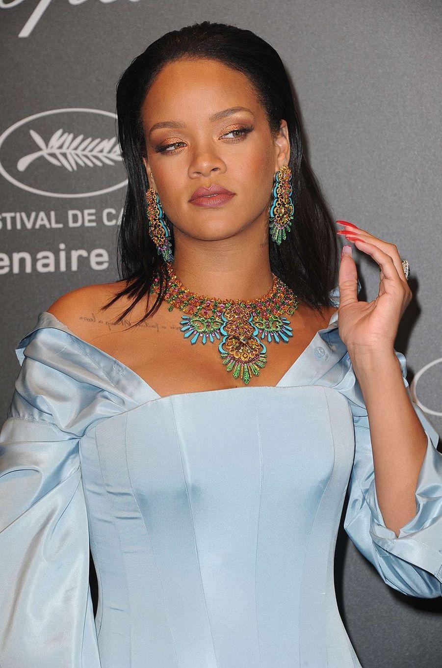 Rihannaà la soirée Chopard, à Cannes, le 19 mai 2017.