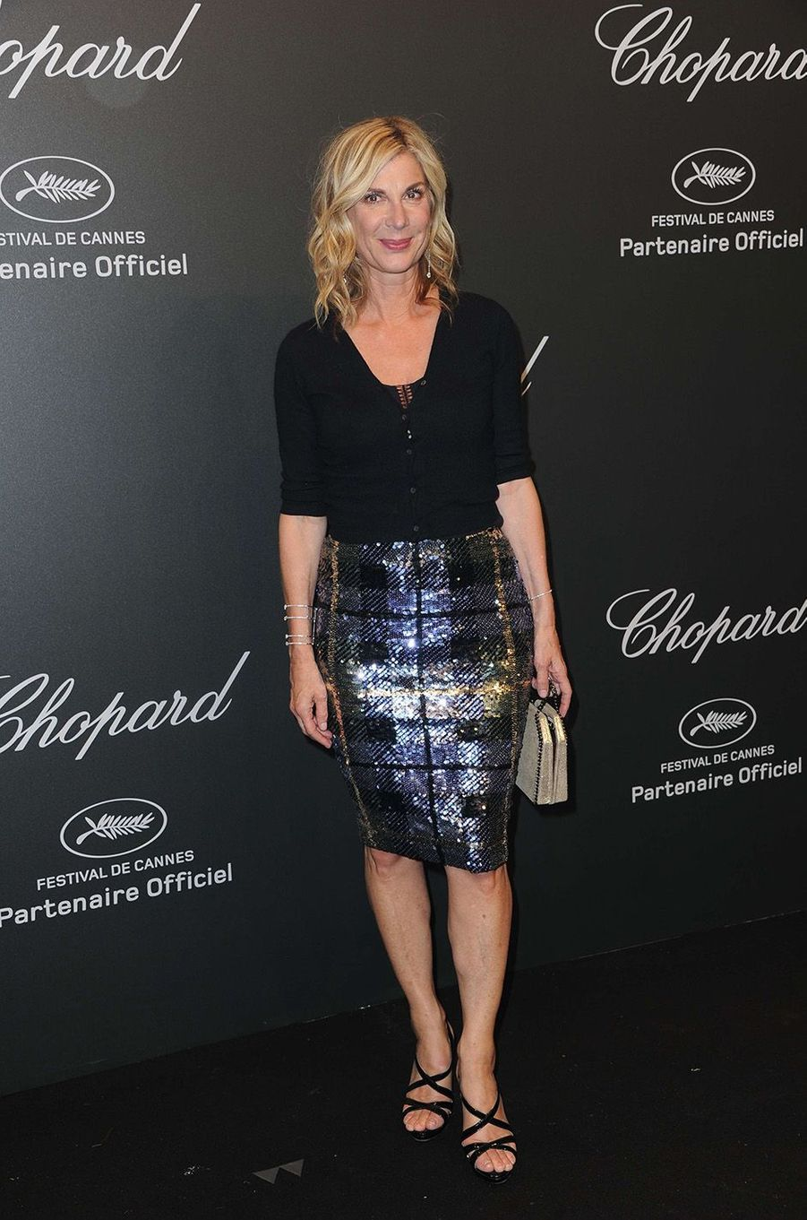 Michèle Laroqueà la soirée Chopard, à Cannes, le 19 mai 2017.