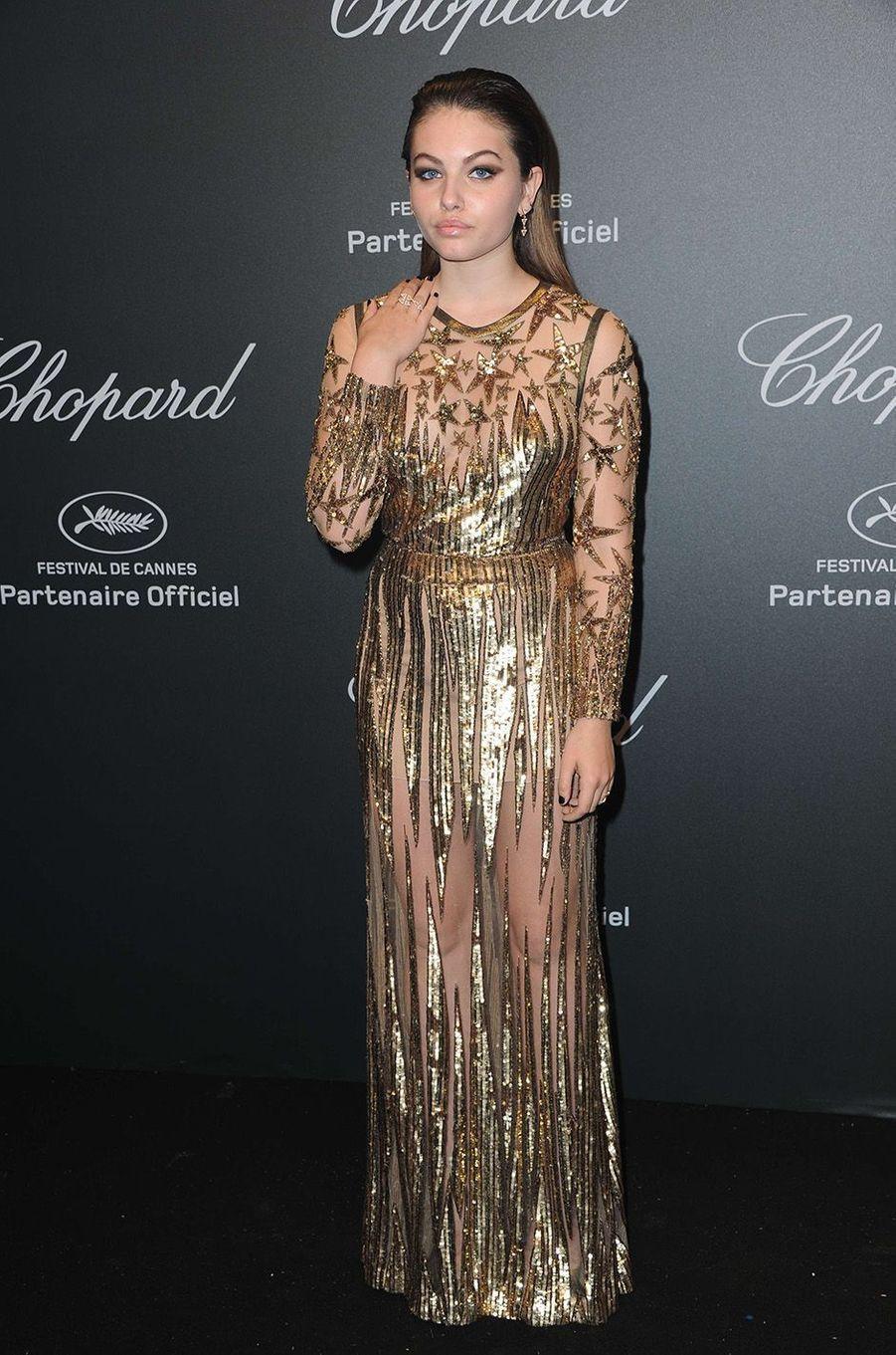 Thylane Blondeauà la soirée Chopard, à Cannes, le 19 mai 2017.