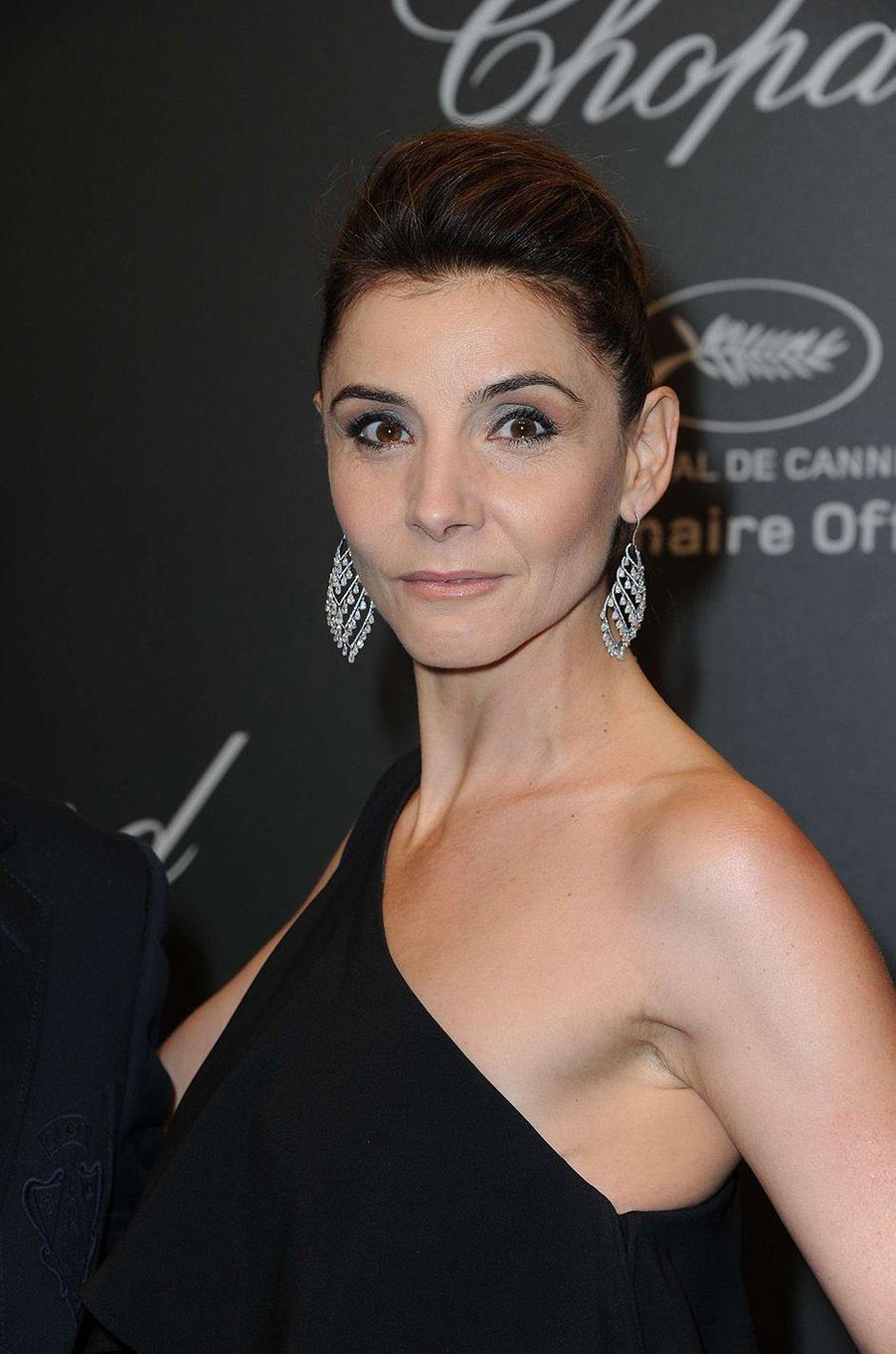 Clothilde Courauà la soirée Chopard, à Cannes, le 19 mai 2017.