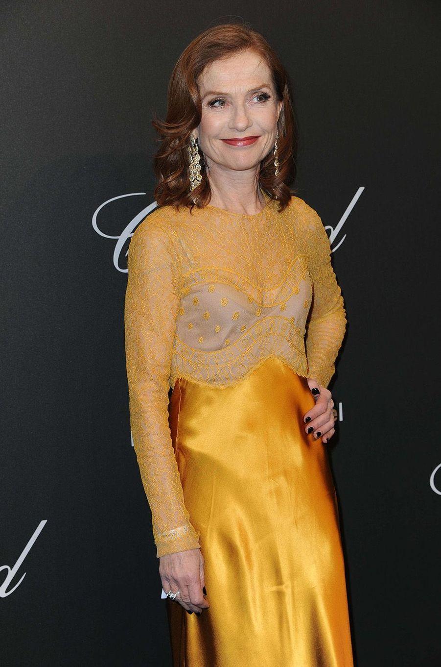 Isabelle Huppertà la soirée Chopard, à Cannes, le 19 mai 2017.