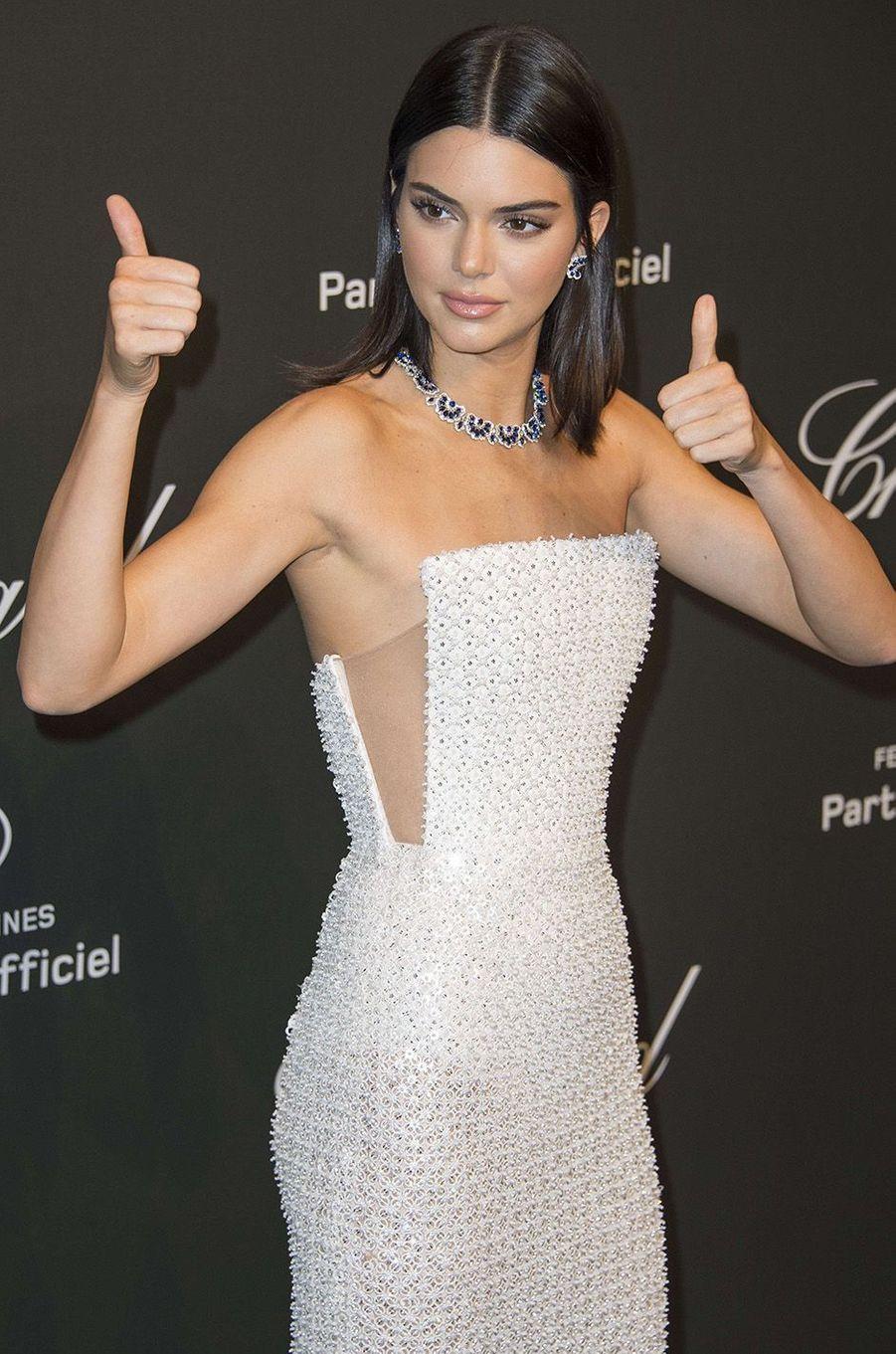 Kendall Jennerà la soirée Chopard, à Cannes, le 19 mai 2017.