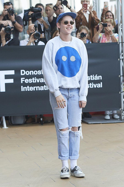 Kristen Stewart arrive auFestival international du film de San Sebastian.