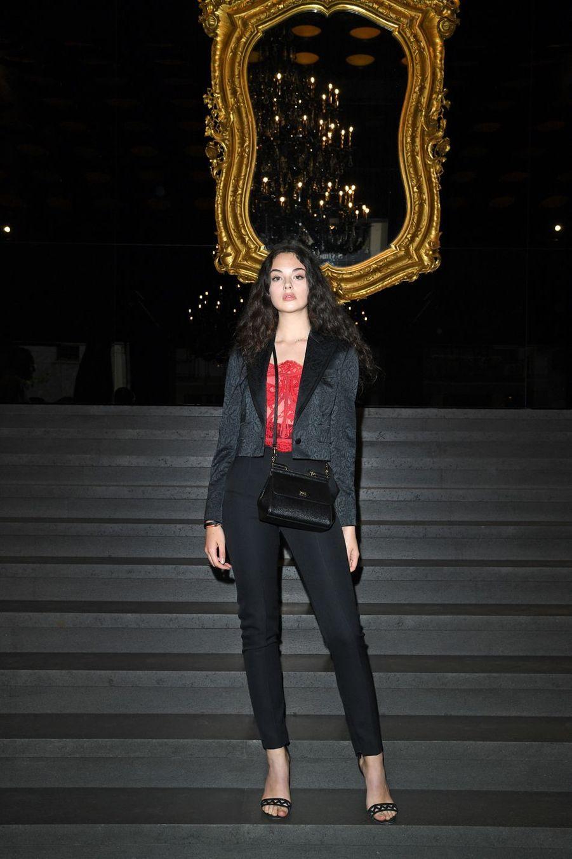 Deva Cassel au défilé Dolce & Gabbana à Milan le 15 juin 2019