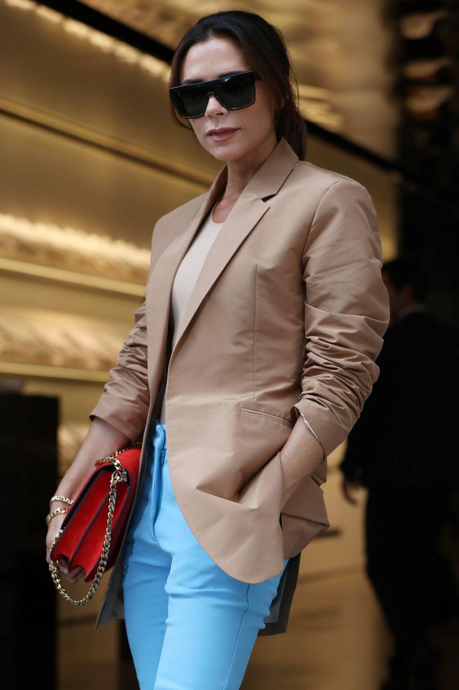Victoria Beckham, lors du défiléde sa marque, à Londres.