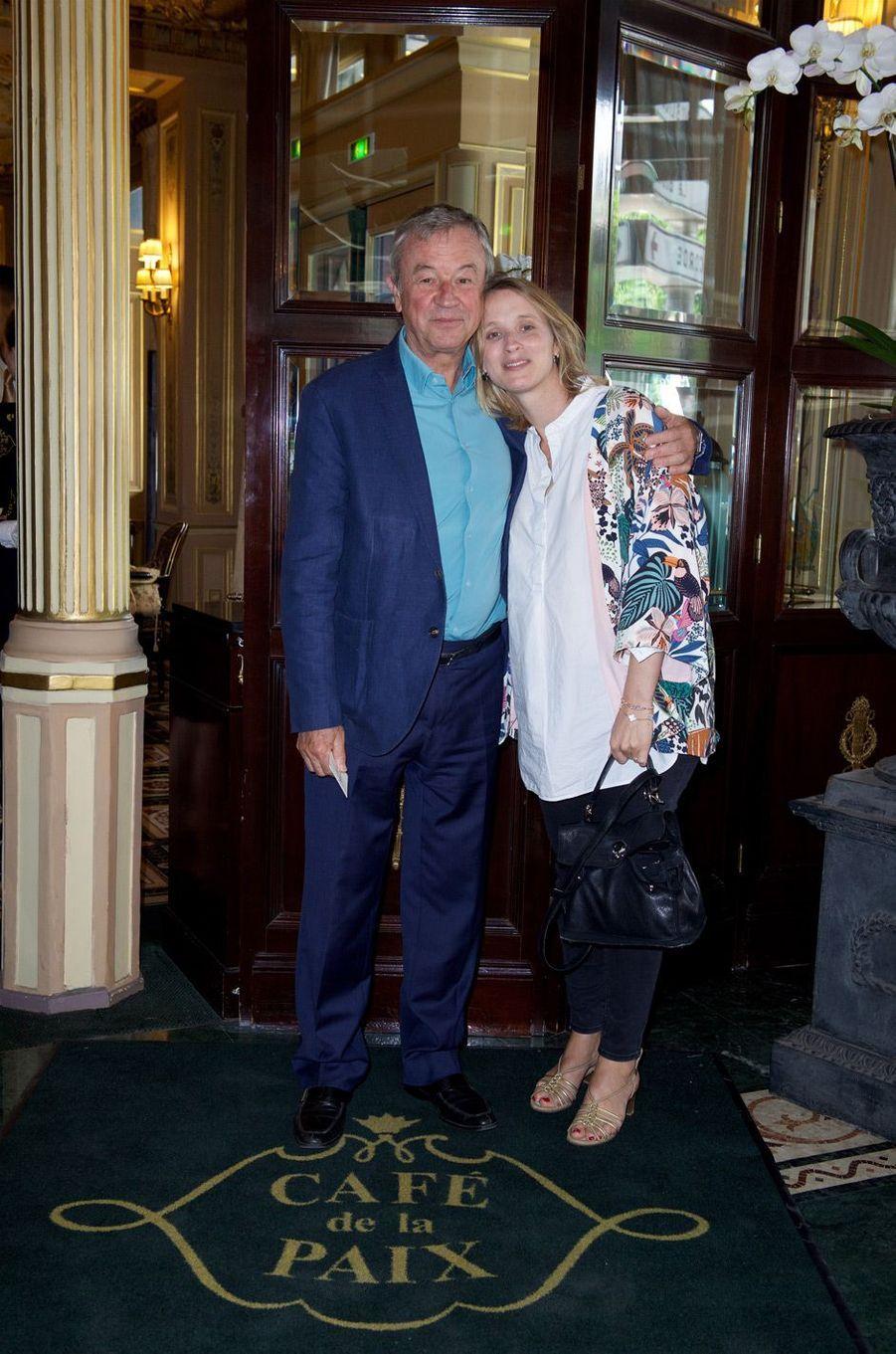 Antoine Gallimard et sa fille Charlotte.