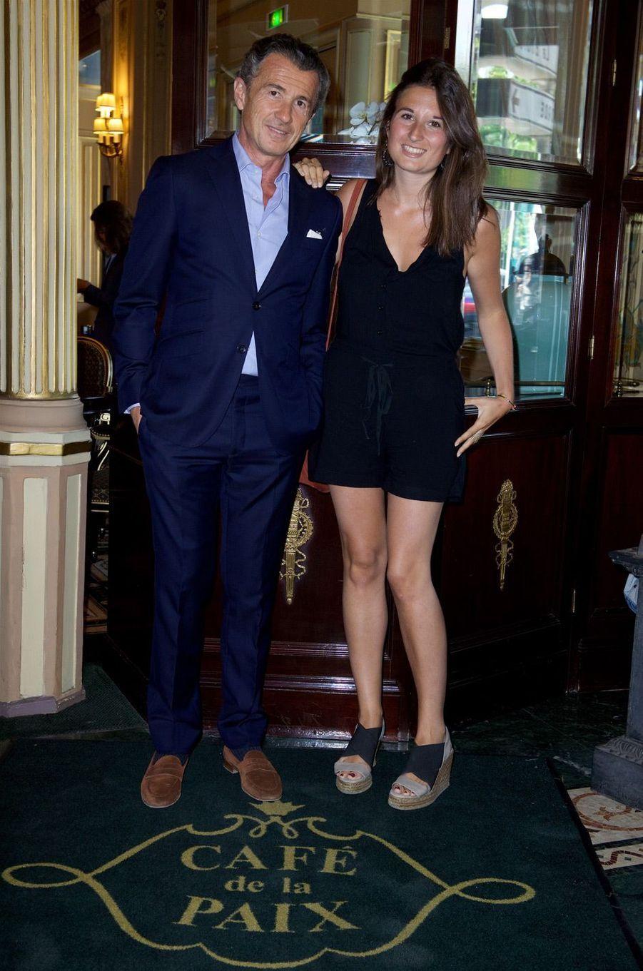 François Sarkozy et sa fille Katinka.
