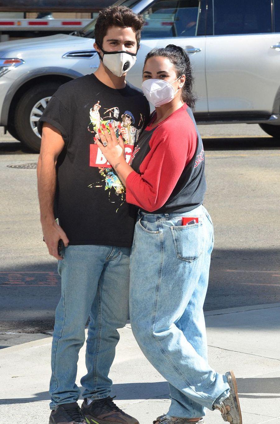Demi Lovato et Max Ehrich à Los Angeles le 27 juillet 2020