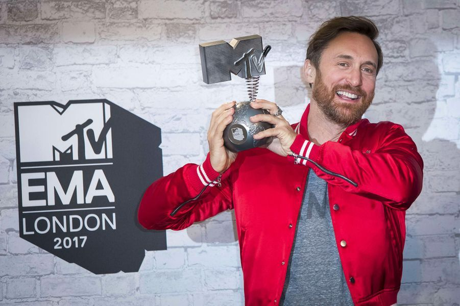 David Guetta aux MTV Europe Music Awards dimanche 12 novembre, à Londres