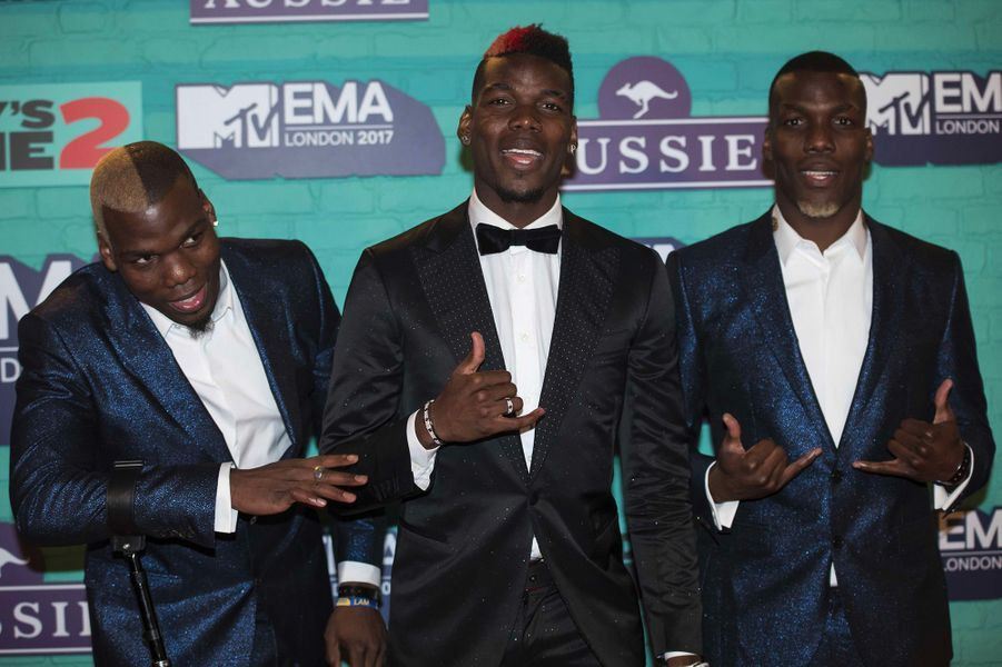 Mathias, Paul et Florentin Pogba aux MTV Europe Music Awards dimanche 12 novembre, à Londres