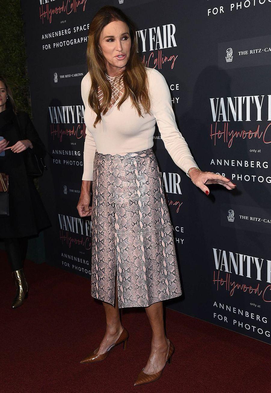 Caitlyn Jennerlors del'inauguration de l'exposition «Vanity Fair : Hollywood Calling»à Los Angeles le 4 février 2020.