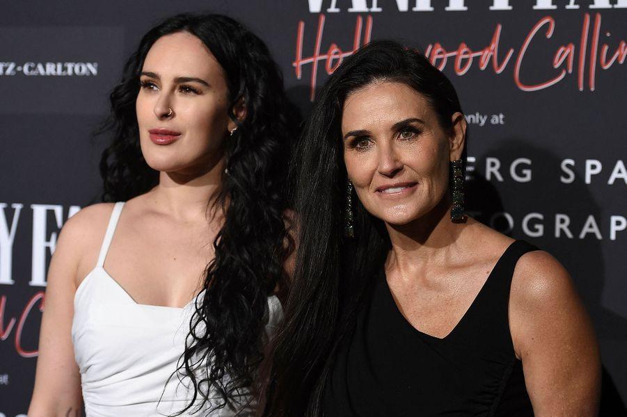 Demi Moore et sa fille Rumer Willis lors del'inauguration de l'exposition «Vanity Fair : Hollywood Calling» à Los Angeles le 4 février 2020.