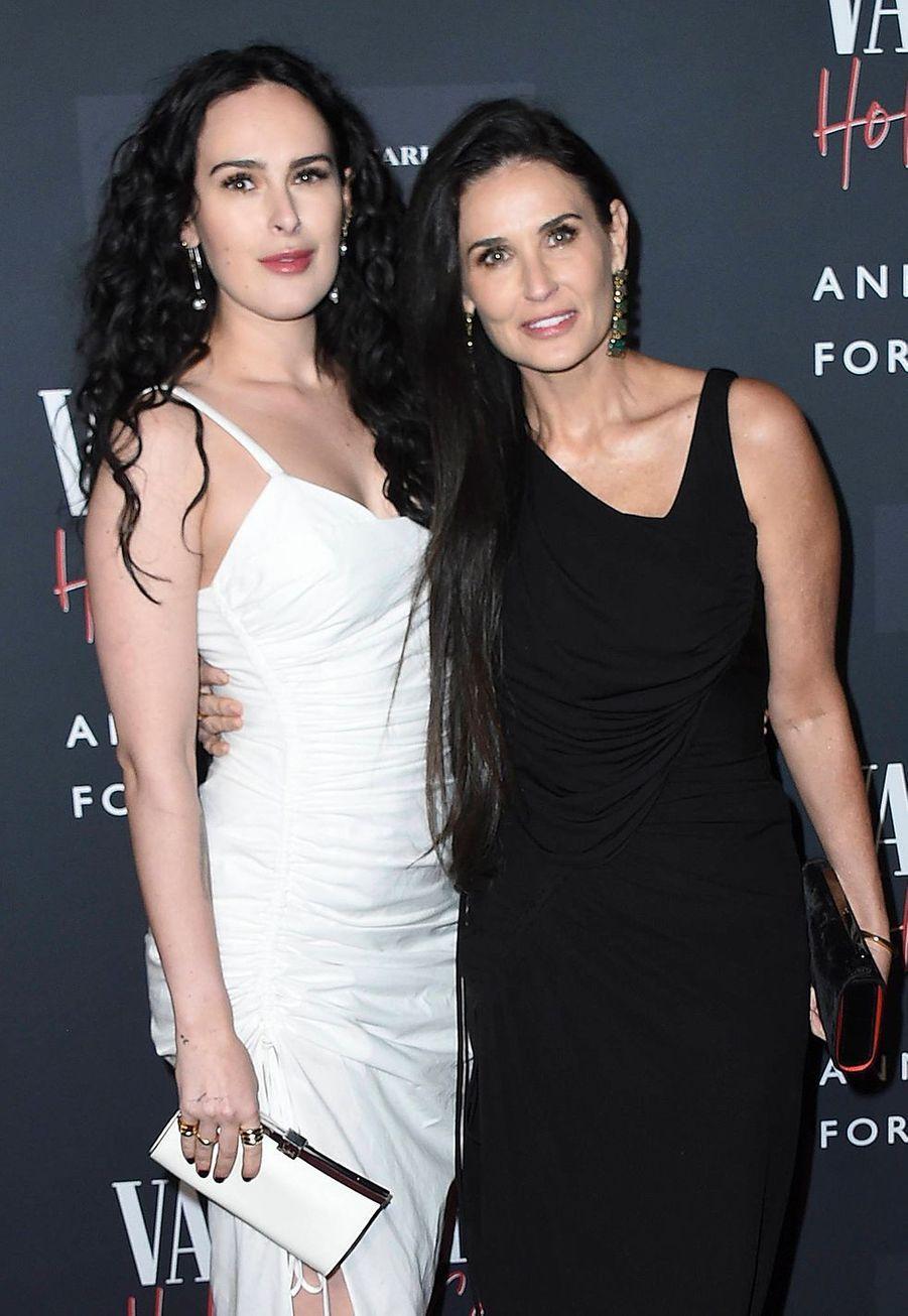 Demi Moore et sa fille Rumer Willislors del'inauguration de l'exposition «Vanity Fair : Hollywood Calling» à Los Angeles le 4 février 2020.