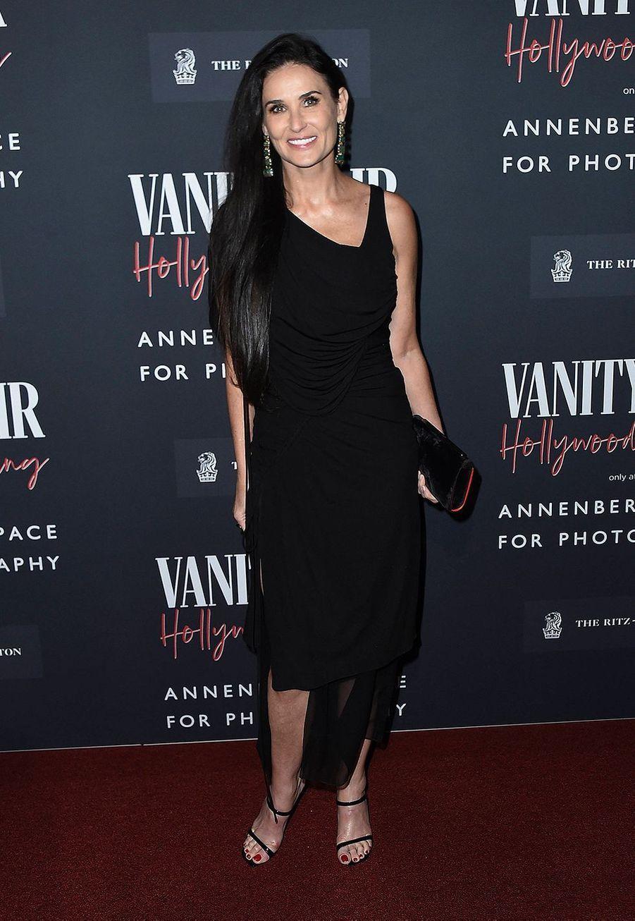 Demi Moorelors del'inauguration de l'exposition «Vanity Fair : Hollywood Calling»à Los Angeles le 4 février 2020.