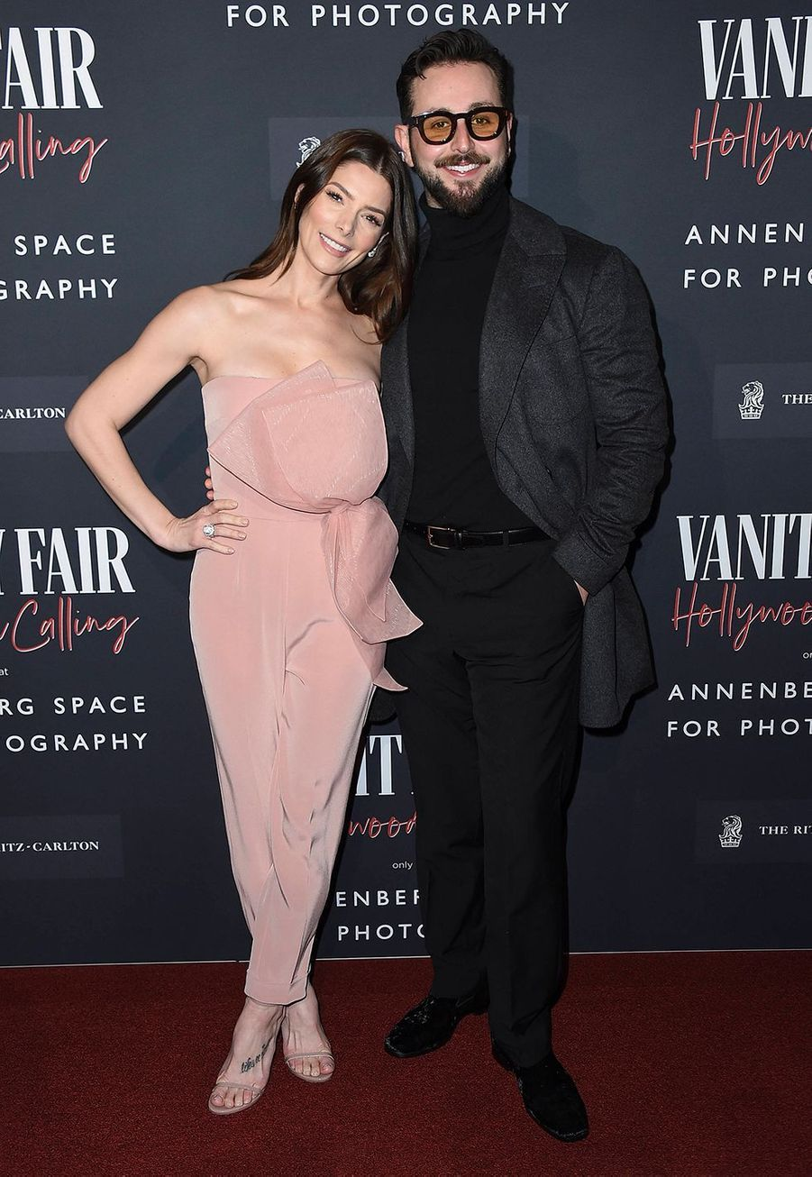 Ashley Greene et son mari Paul Khoury  lors de l'inauguration de l'exposition «Vanity Fair : Hollywood Calling» à Los Angeles le 4 février 2020.
