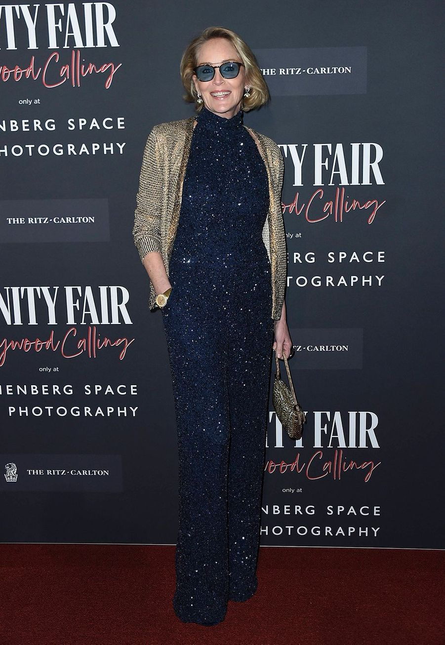 Sharon Stone lors de l'inauguration de l'exposition «Vanity Fair : Hollywood Calling» à Los Angeles le 4 février 2020.