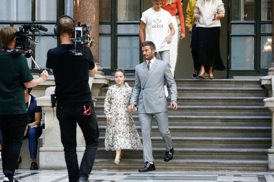 David Beckham avec Harper et Romeo