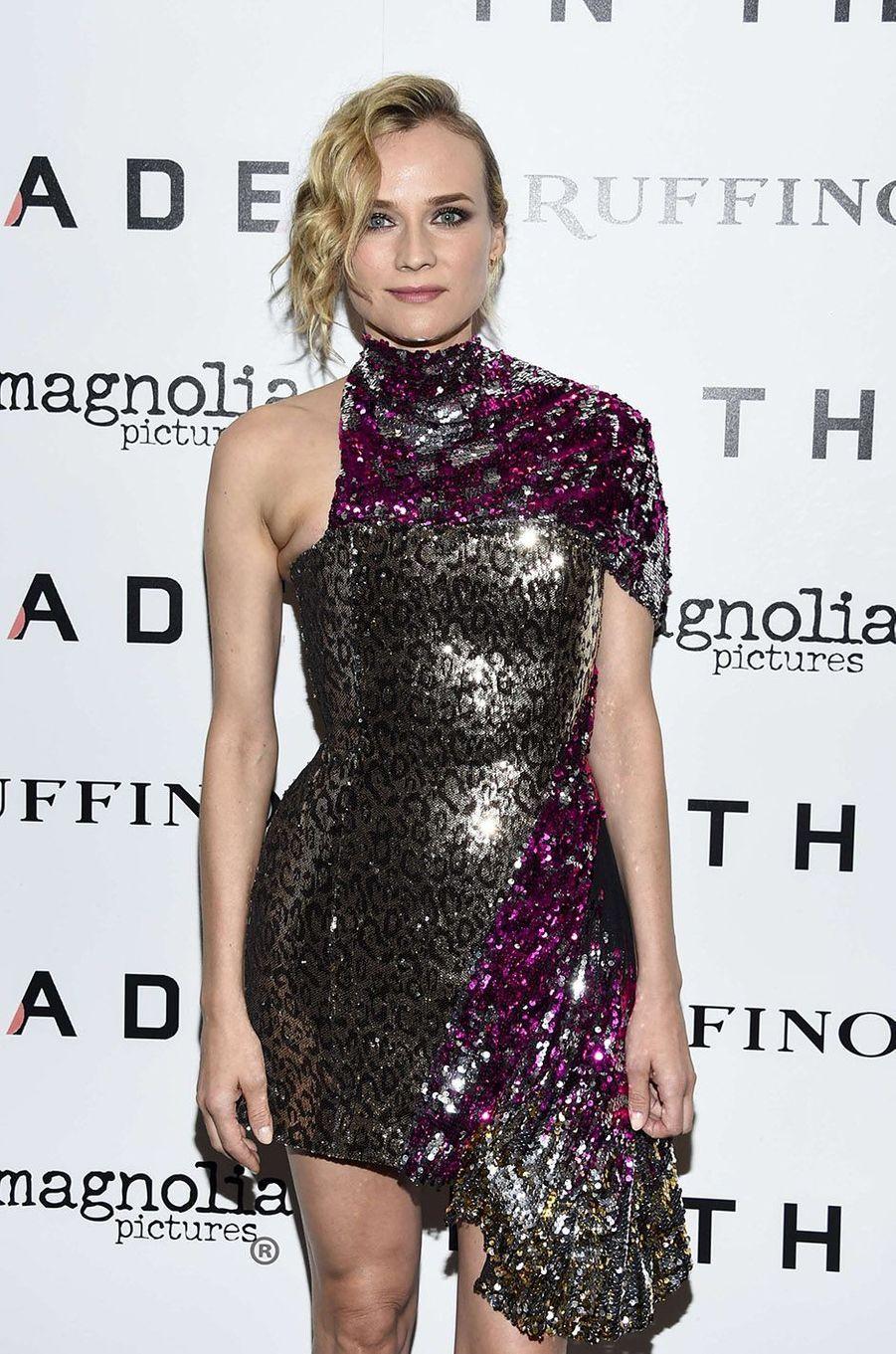 """Diane Kruger à New York lors de l'avant-première de """"In The Fade"""", le 4 décembre 2017."""