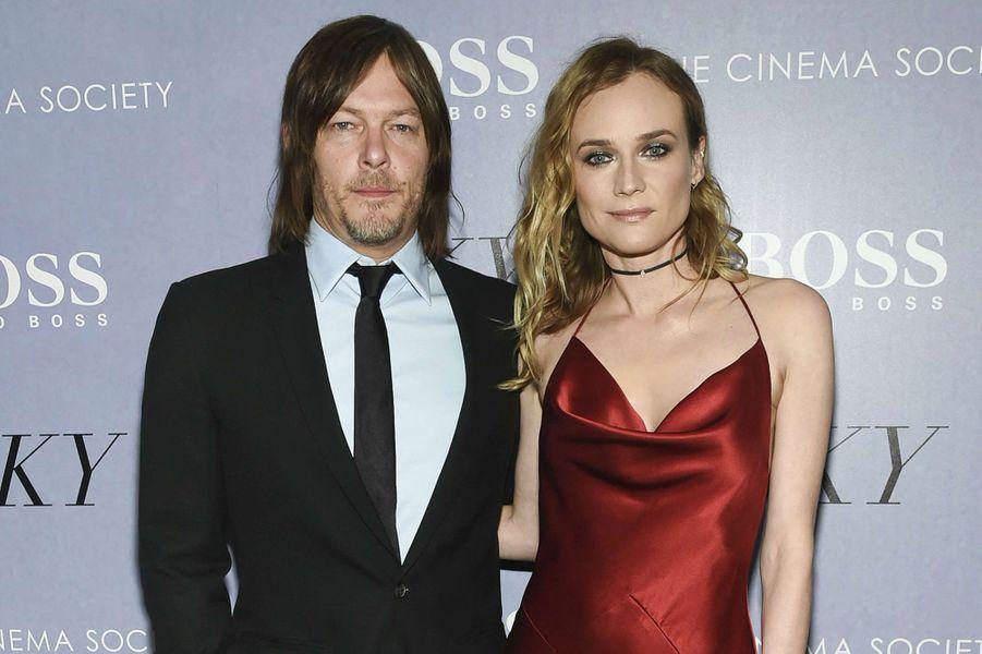 Diane Kruger et Norman Reedus à New York.