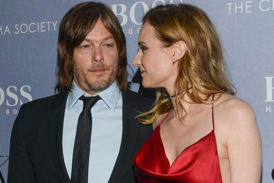 Norman Reedus et Diane Kruger, complices à New York en avril 2016.