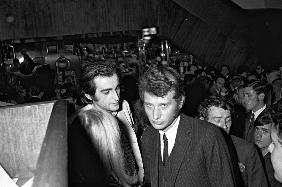 Dick Rivers et Johnny Hallyday dans les années 1970