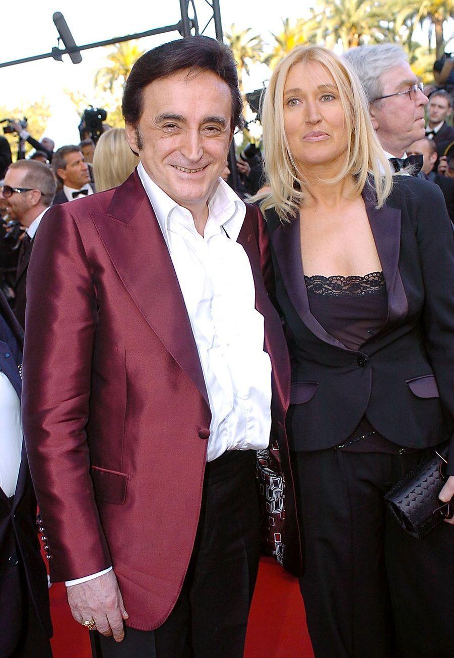 Dick Rivers avec son épouse Babette au Festival de Cannes 2005