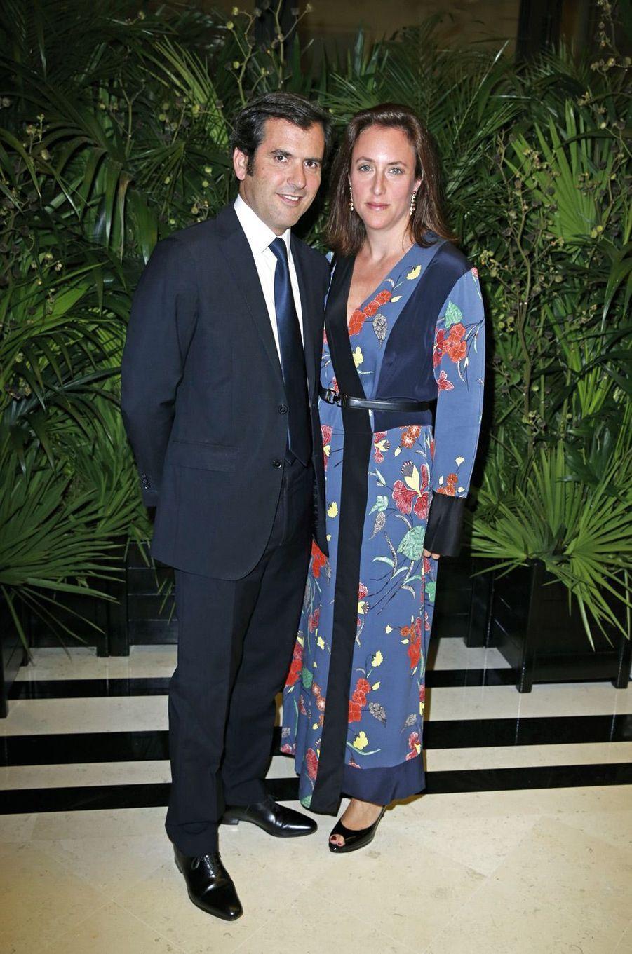 Nicolas Houzé et son épouse.