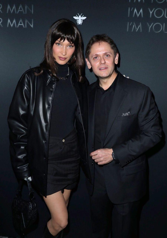 Bella Hadid, Laurent Kleitman, P-DG des parfums Christian Dior.