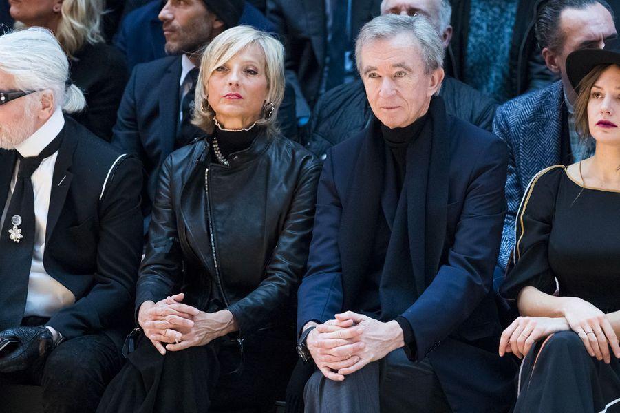 Bernard Arnault et sa femme Hélène Mercier Arnault au défilé Dior