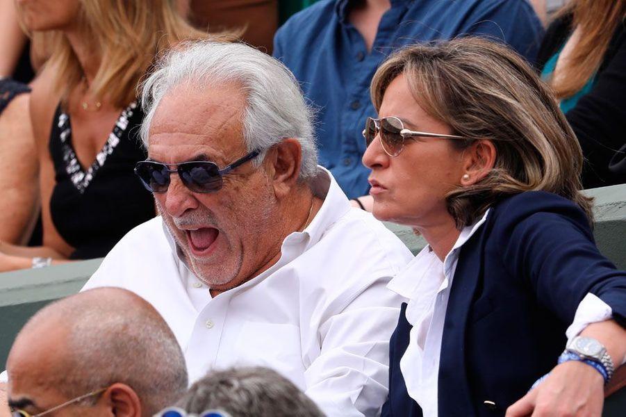 Dominique Strauss-Kahn et sa compagne Myriam à Roland-Garros