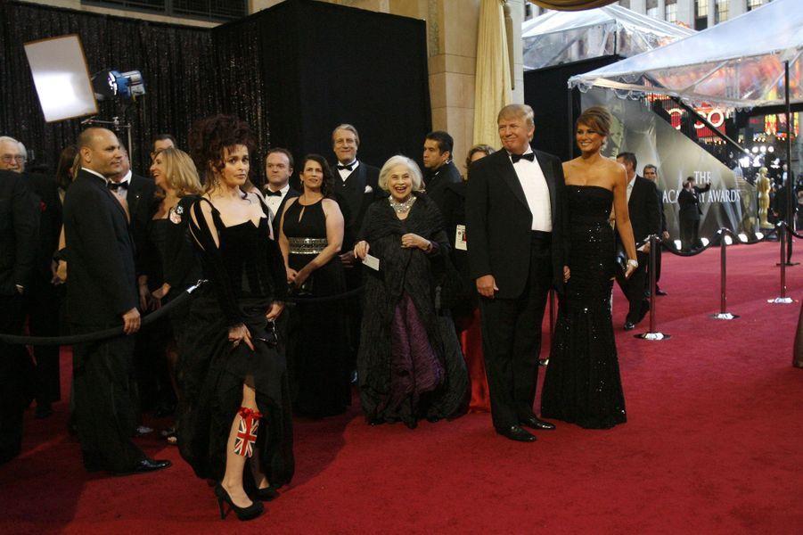 Donald et Melania Trump à la cérémonie des Oscars en 2011.