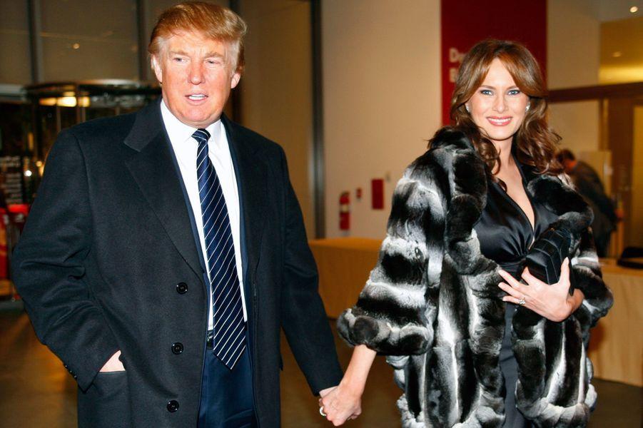 Donald et Melania Trump à New York en 2005.