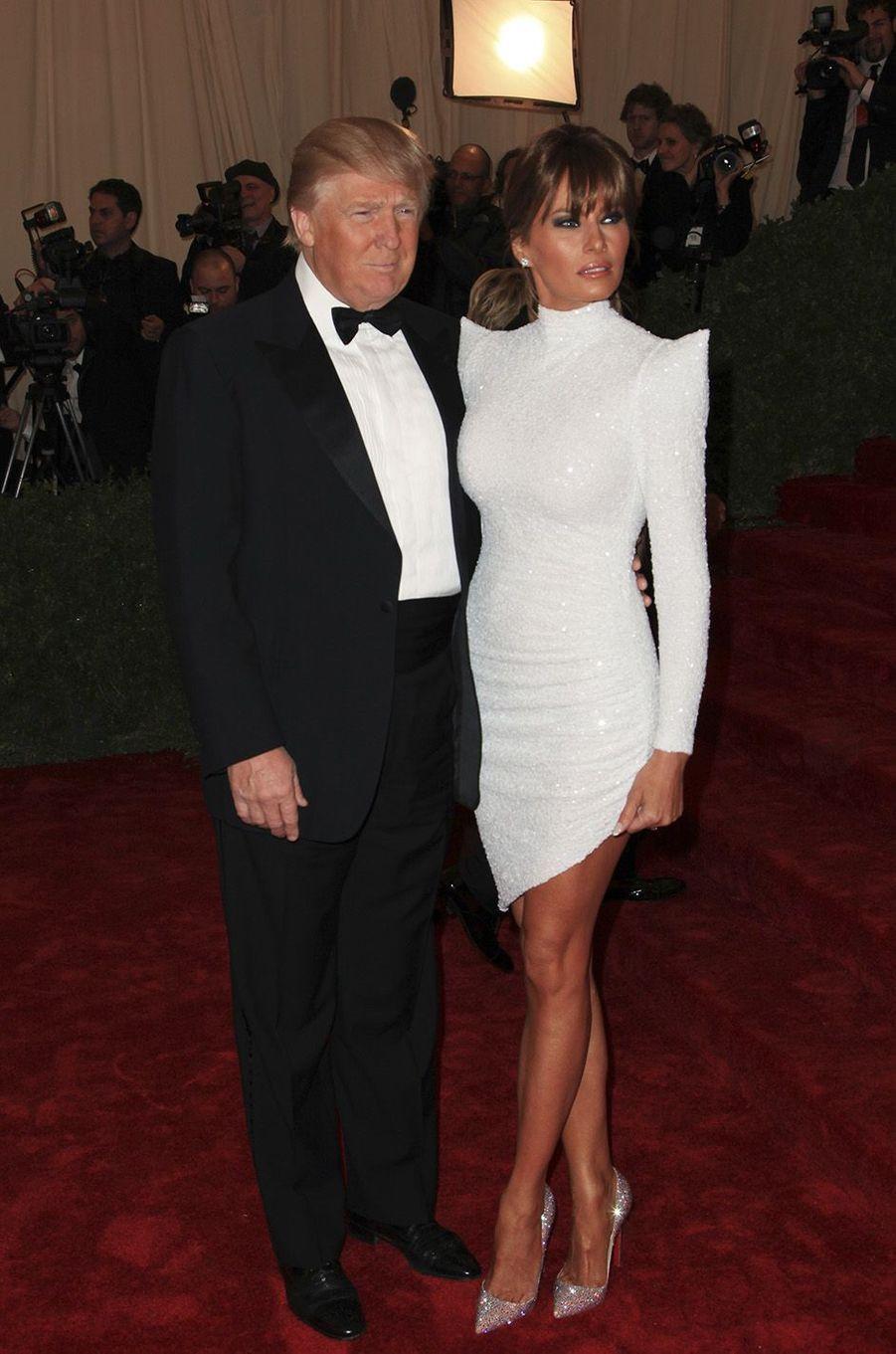 Donald et Melania Trump au MET ball Gala, à New York, mai 2012.