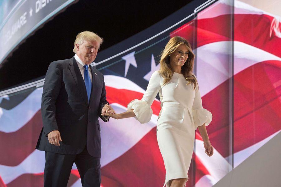 Donald et Melania Trump dans l'Ohio en juillet 2016.