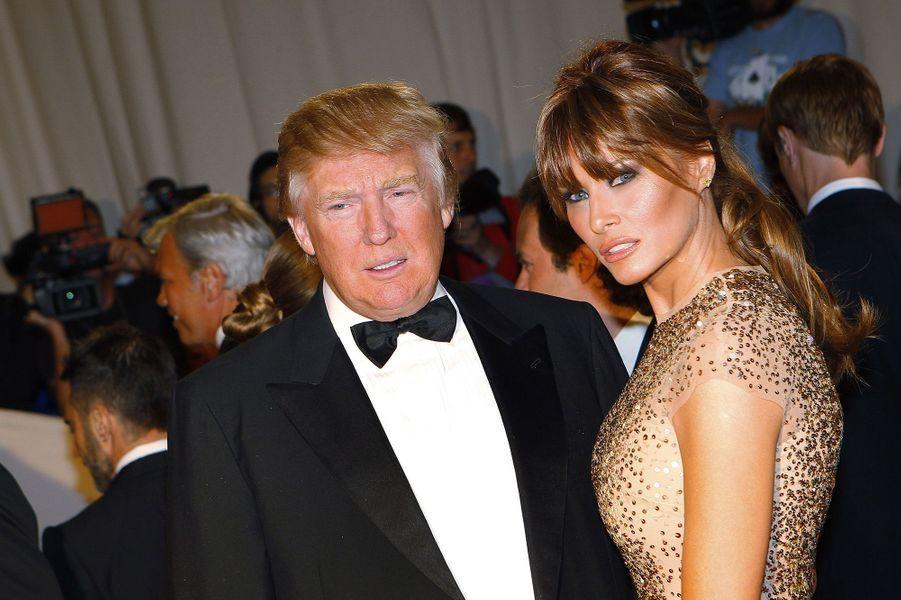 Donald et Melania Trump en 2011.