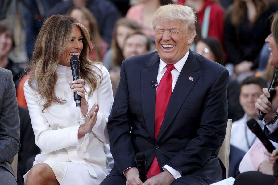Donald et Melania Trump, un couple de pouvoir.