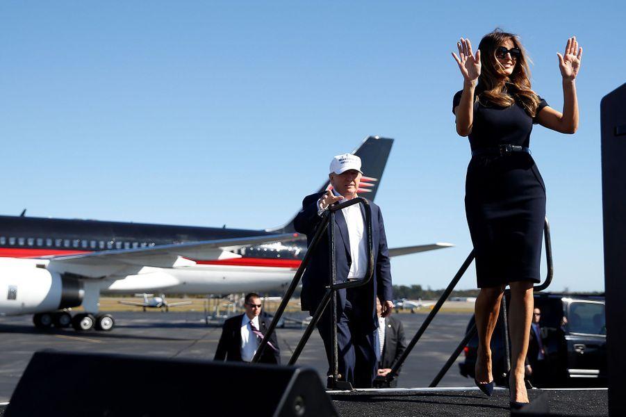Melania et Donald Trump en novembre 2016.
