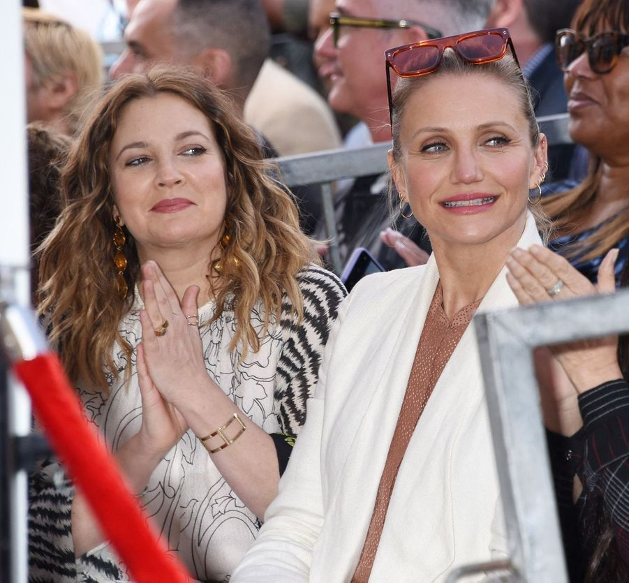 Drew Barrymore et Cameron Diaz à Hollywood le 1er mai 2019